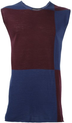 Comme des Garcons Pre-Owned colour block knit top