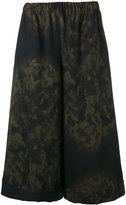 Comme des Garcons printed wide-leg trousers - women - Wool - XS