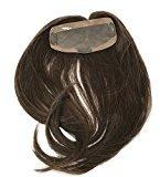 "Fortune Monofilament ""Band-Fall"" Long (half-wig) Womens Human hair Topper- Color #6 Medium Brown - 18"" Long-Straight Hair Texture"