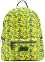 fe-fe flamingo print backpack