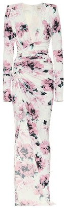 Alexandre Vauthier Floral stretch-jersey maxi dress