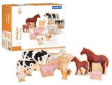 Guidecraft GuidecraftTM Wedgies 10-Piece Farm Animals Set