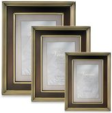 Lawrence Frames Brushed Brass Picture Frame with Bronze Inner Panel
