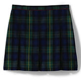 Classic Girls Plaid Box Pleat Skirt Top of the Knee-Hunter Navy Plaid