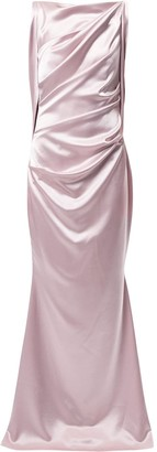Talbot Runhof Ponceau5 crepe satin gown