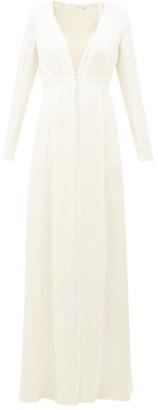 Temperley London Julianna Crystal-embellished Silk-satin Coat - Womens - Ivory