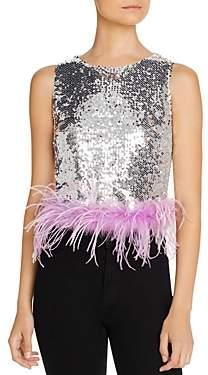 Lucy Paris Embellished-Hem Sequined Top - 100% Exclusive
