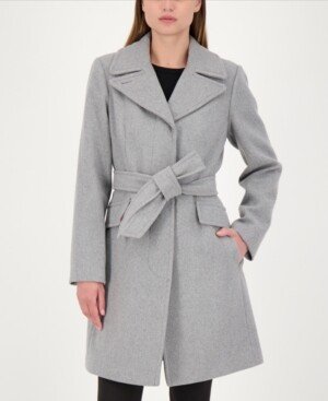 Kate Spade Belted Wrap Coat, Created for Macy's