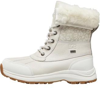 UGG Womens Adirondack Iii Snow Leopard Boots White