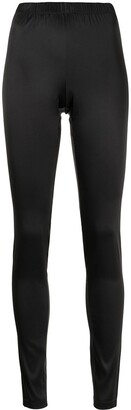 Carine Gilson High-Rise Satin Leggings
