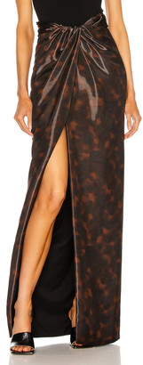 Brandon Maxwell High Slit Maxi Skirt in Tortoise | FWRD