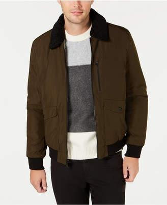 Calvin Klein Men Military Flight Jacket With Sherpa Collar