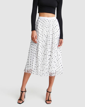 Belle & Bloom Women's White Midi Skirts - Mixed Feelings Reversible Skirt - Size One Size, XS-S at The Iconic