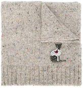 No.21 embellished cat scarf