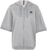 RED Valentino short-sleeve zip hoodie - women - Cotton/Polyamide/Polyester - S