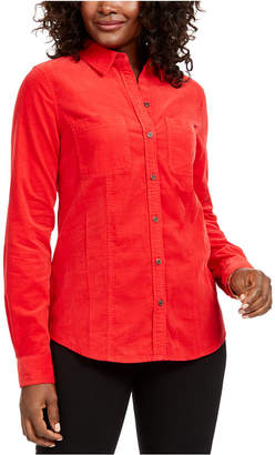Charter Club Petite Button-Down Cotton Corduroy Shirt