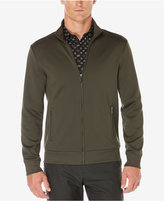Perry Ellis Men's Knit Full-Zip Mock-Collar Jacket