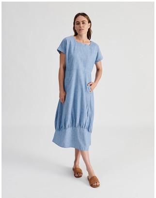 Regatta Extended Short Sleeve Dress With Gathered Hem