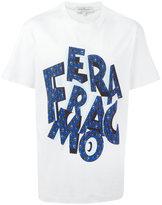 Salvatore Ferragamo Lettering logo T-shirt - men - Cotton - M