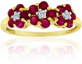 JCPenney FINE JEWELRY 10K Gold Ruby & Diamond-Accent Ring