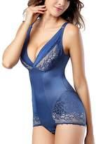 Avitalk Shapewear Womens Lace Two Toned Wear Your Own Bra Bodysuit - XL