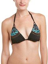 Nanette Lepore Women's Mantra Embroidery Vixen Bikini Top