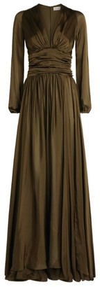 Alexandre Vauthier Silk Pleated Dress