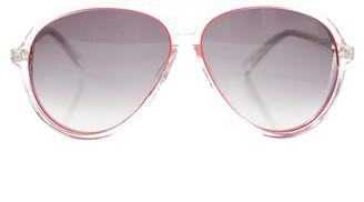 Linda Farrow x Matthew Williamson Clear Aviator Sunglasses
