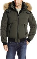 Soia & Kyo Men's Damien 2 In 1 Down Bomber Jacket with Removable Fur Hood