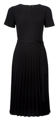 Dorothy Perkins Womens Black Keyhole Pleat Midi Dress, Black