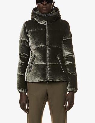Moncler Fourmi hooded velvet-down jacket