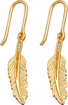 Astley Clarke Biography 18ct yellow-gold plated feather drop earrings
