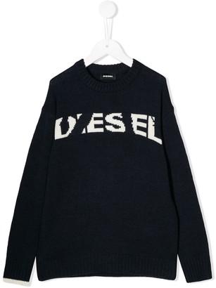 Diesel logo intarsia sweater