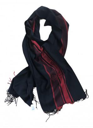 Christian Dior Black Wool Scarves