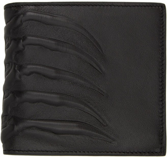 Alexander McQueen Black Leather Rib Cage Wallet