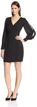 Society New York Women's Side Button Wrap Dress