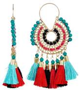 Jardin Tassel Medallion Drop Earrings