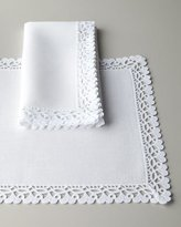 "Matouk Ricamo 90"" Round Tablecloth"
