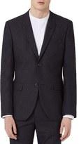 Topman Men's Skinny Fit Glen Plaid Suit Jacket