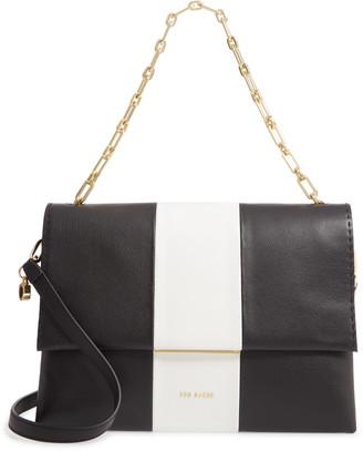 Ted Baker Alianna Stripe Leather Shoulder Bag
