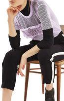 Topshop PETITE Dobby Mesh Ruffle T-Shirt
