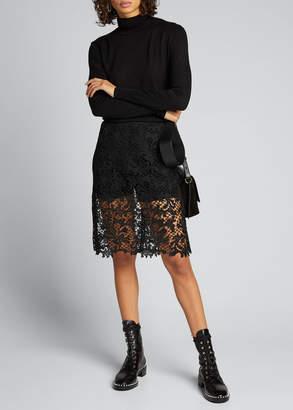 Sacai Embroidered Lace Skirt
