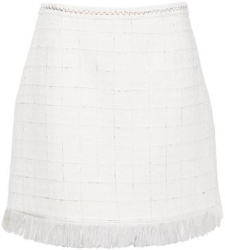 Claudie Pierlot Fringed Tweed Mini Skirt