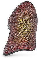 Lynn Ban 'Pavé Armor' ombré sapphire black rhodium silver ring