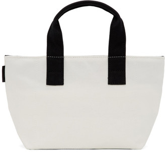 N.Hoolywood White Small Zipped Tote