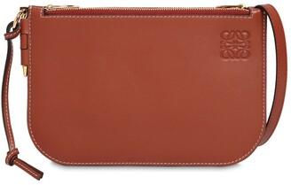 Loewe Gate Double Zip Leather Shoulder Bag
