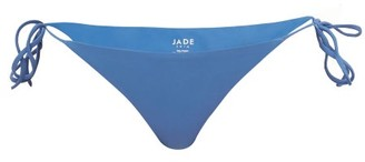 JADE SWIM Ties Side-tie Low-rise Bikini Briefs - Blue