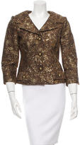 David Meister Metallic-Accented Wool-Blend Blazer