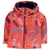 Roxy Kids Mini Jetty Ski Jacket Coat Top Infants Girls Hooded Waterproof Warm