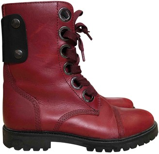 Zadig & Voltaire Joe Red Leather Boots